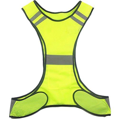 ueasy hochsichtbare laufen rad sicherheits weste warnweste mit reflektierenden streifen gelb xamah. Black Bedroom Furniture Sets. Home Design Ideas